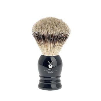 Mühle - Rasierpinsel Silberspitz, black 19 mm
