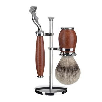 Mühle - Rasierset Purist, Bruyereholz, 3-teilig (Gillette® Mach3®)