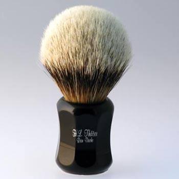 Thäter - Rasierpinsel Silberspitz # III (4125/2, 26mm), schwarz