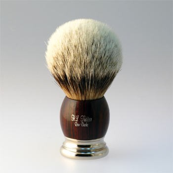 Thäter - Rasierpinsel Silberspitz (4292/4ni, 24mm) Cocobolo