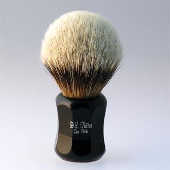 Thäter - Rasierpinsel Silberspitz # II (4125/1, 24mm), schwarz