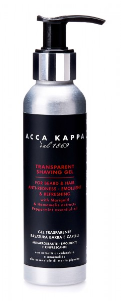 Acca Kappa - Barber Shop Collection - Transparentes Rasiergel, 125 ml