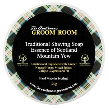 Essence of Scotland - Mountain Yew Traditional Shaving Soap, 120 g