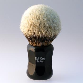 Thäter - Rasierpinsel Silberspitz # IV (4125/4, 30mm), schwarz