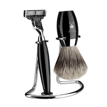 Mühle - Rasierset Kosmo schwarz, 3-teilig (Gillette® Mach3®)