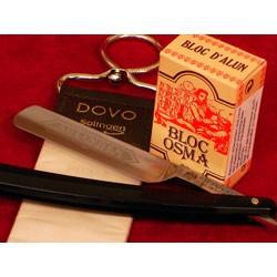 -Z-Set Rasiermesser Solingen für Einsteiger, schwarze Griffschalen
